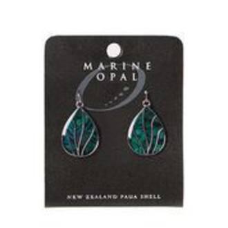 MOE115 - Marine Opal Drop Design Earrings
