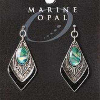 MOE119 - Marine Opal Drop Earrings