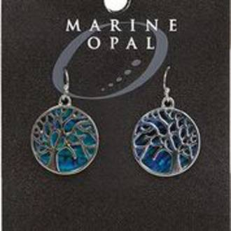 MOE124 - Marine Opal Drop Earrings