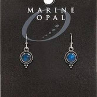 MOE126 - Marine Opal Drop Design Earrings