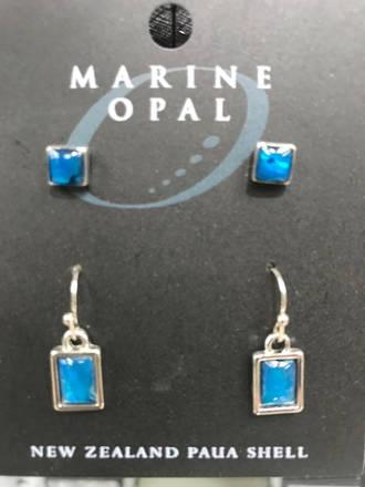 MOE94 - Marine Opal Stud and Drop Earring Set