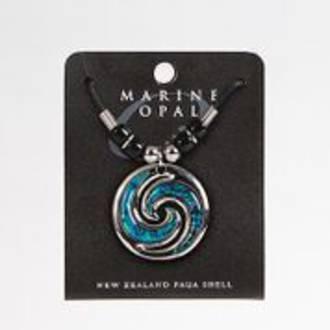 MOP113 Marine Opal Cord Necklace - Koru