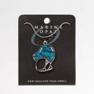 MOP91S - Marine Opal Kiwi Design Necklace