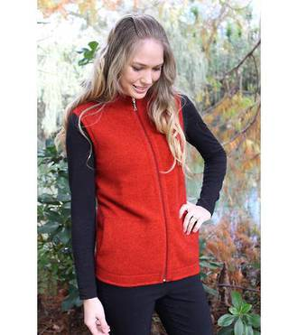 9938 Plain Zip Vest with Pockets