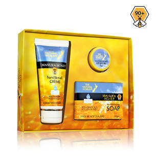 The Natural World Manuka Honey Boxed Gift Set 3pk