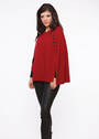 KO510 Button Trim Poncho