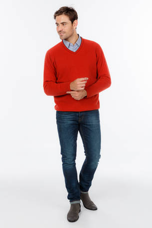 NB347 Sport Vee with Raglan Sleeve Sweater - Slim Fit