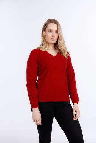 NB396 Womens Vee Neck Plain Sweater