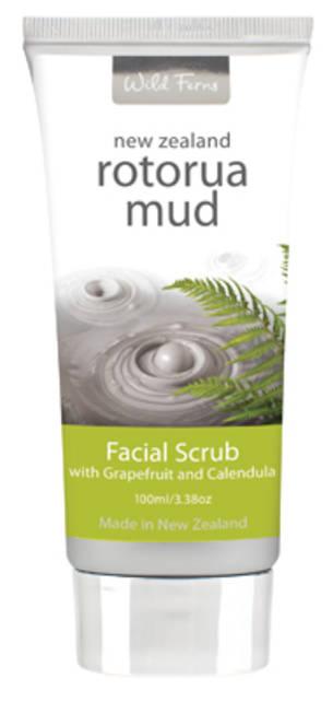 Wild Ferns Rotorua Mud Facial Scrub with Grapefruit & Calendula
