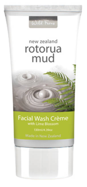 Wild Ferns Rotorua Mud Facial Wash Creme with Lime Blossom