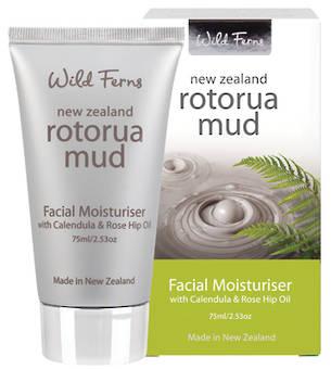Wild Ferns Rotorua Mud Facial Moisturiser with Calendula & Rose Hip Oil