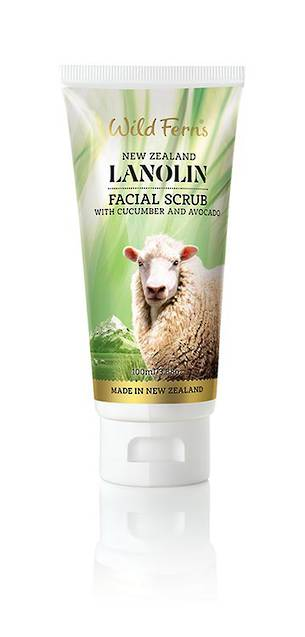 Wild Ferns Lanolin Facial Scrub