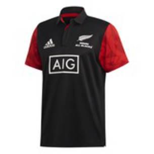 All Black Maori Polo Shirt