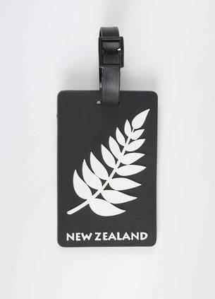 Luggage Tag of New Zealand - Silver Fern