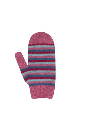 NX708 Childrens Striped Mittens