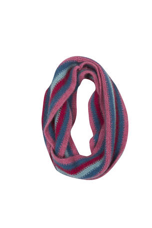 NX709 Childrens Striped Loop Scarf