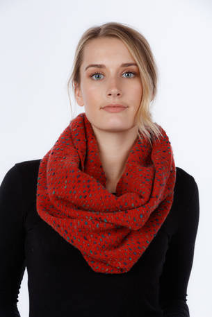 NX808 Dot Inlay Scarf - Mohair Blend