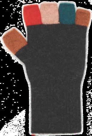 Merino Possum Multicolour Womens Fingerless Glove