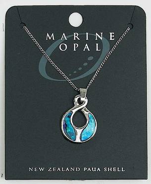 PJS36 - Marine Opal Fine Chain Necklace - The Path of Life