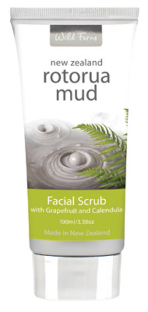 Wild Ferns Rotorua Mud Facial Scrub with Grapefruit & Calendula