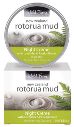 Wild Ferns Rotorua Mud Night Creme with Lavender and Passion Flower