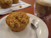 Kumara Spice Muffins with Crumble Topping168x112