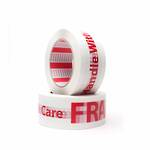 "FPA10 Fragile ""Handle with Care""  Acrylic Printed Performance Tape"