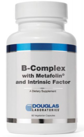 Douglas B-COMPLEX with Metafolin®, Methylcobalamin Vitamin B12, and Intrinsic Factor