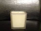 Frosted Glass Cube Soy Candle