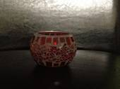 Red Mosaic Soy Candle