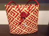 Patikitiki Flax Kete Red & Natural