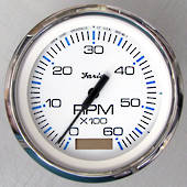 Tachometer with Hourmeter (6000 RPM) (Gas) (Inboard) Chesapeake Faria