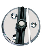 Door Button with Spring Chrome