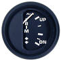 Trim Gauge (Mercury/Mariner/Mercruiser/Volvo DP/Yamaha-2001 and newer) Black Faria