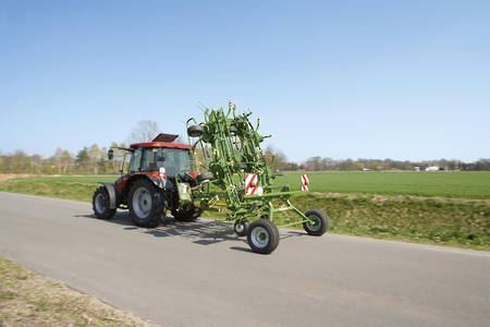 Krone KWT Trailed Rotary Tedder with Running Gear