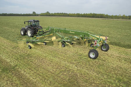 Krone Side Delivery & Three Rotor Rake