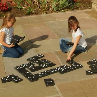 Jumbo Black & White Dominoes