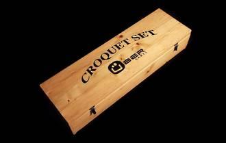 Wooden Croquet Set Box - 4 Player