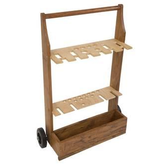 Wooden Croquet Set Trolley - 6 Player