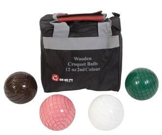 Croquet Balls - 12oz Wooden - 2nd Colours