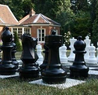 Garden Chess Board - 17cm Plastic