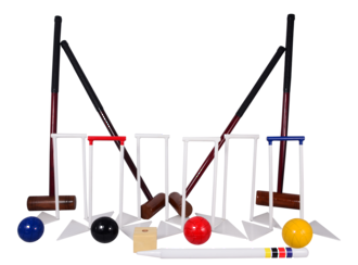 Indoor/Outdoor Croquet Set - For use on astro turf and artificial grass surfaces