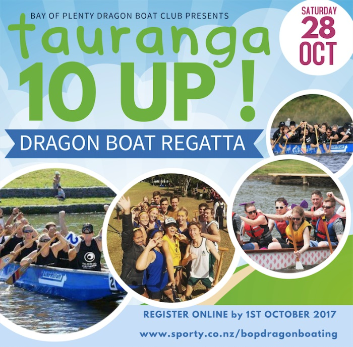 Dragon Boat Regatta at The Lakes Tauranga 2017