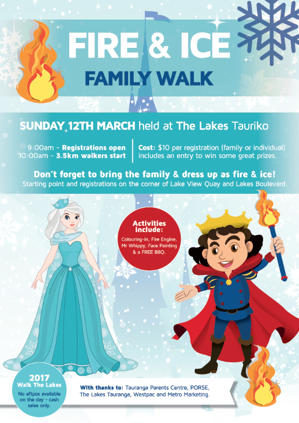 The Lakes Walk the Lakes Fire and Ice Poster 2017