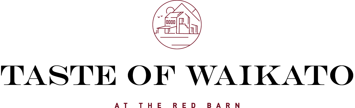 The Red Barn Brands-Red-Black-Engravers Font Taste of Waikato Logo