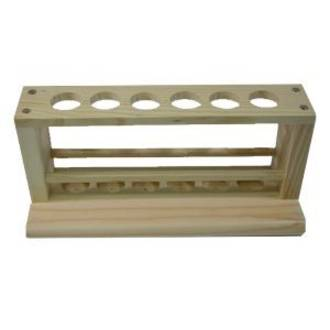 Test Tube Rack Wooden 25mm holes - NO DRYING PEGS -