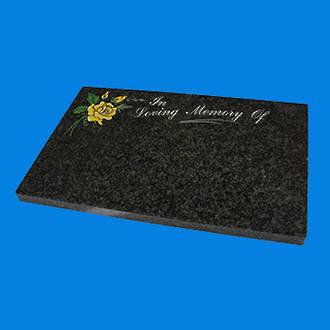 Grey Cremation Plaque