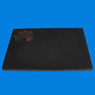 Polished Black Granite Plaque