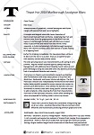 TPH Sauvignon Blanc 2018 notes