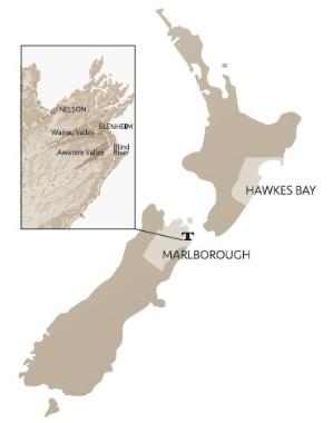 Tinpot Hut vineyards map